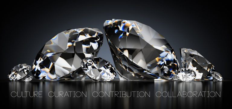four cs diamonds image - culture - curation - contribution - colaboration